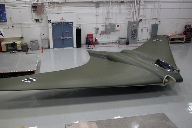Blast from the past: The full-scale replica of the Ho 2-29 bomber was made with materials available in the 1940s