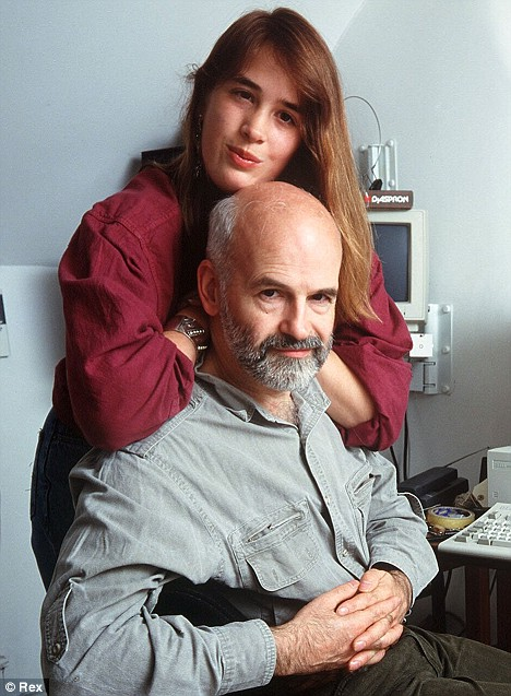 Terry Pratchett with his daughter Rhianna in 1998