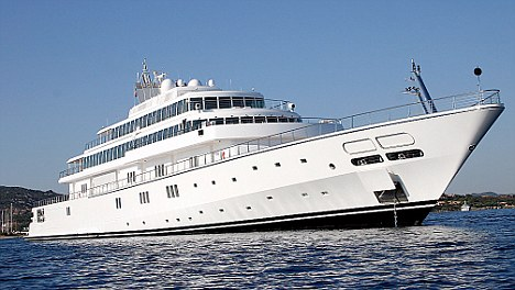 Floating palace: The 452ft Rising Sun