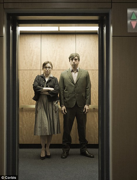 Image result for people in a lift