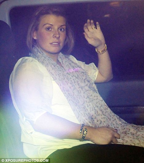 Baby on board: Pregnant Coleen came out to support husband Wayne Rooney