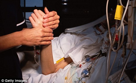 A nurse checks a patient's pulse