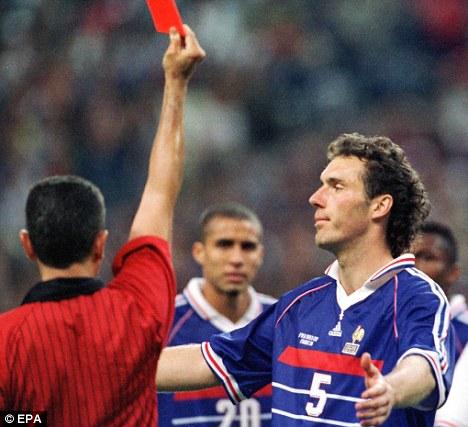 Image result for Laurent blanc red card