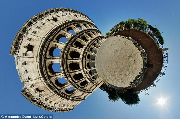 Stereographic projection makes the Colosseum - one of the greatest works of Roman architecture - look even more impressive