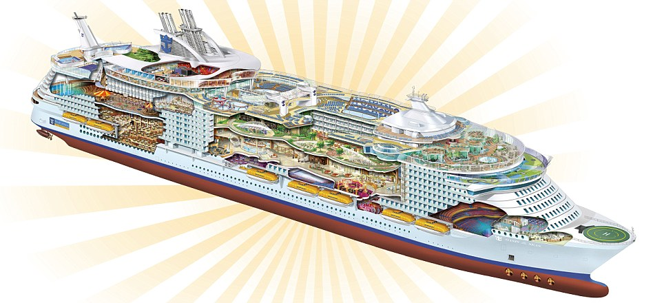 Oasis of the Seas, world?s biggest-ever passenger ship.