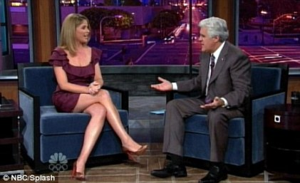 Ghostly: Jenna Bush Hager told chat show host Jay Leno she was woken by the sound of 1920s music in her bedroom