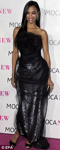 Zoe Saldana arrives for The Museum of Contemporary Art (MOCA) 30th Anniversary Gala
