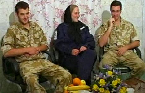 Flashback: HMS Cornwall crew members, including Faye Turney, centre, were paraded on Iranian TV during their 2007 hostage ordeal