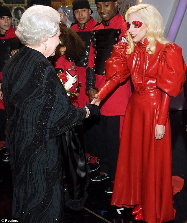 Gaga meets the Queen