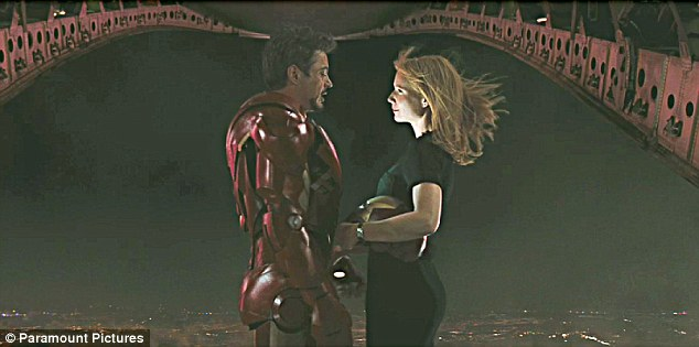Gwyneth Paltrow and Robert Downey Jnr in Iron Man 2
