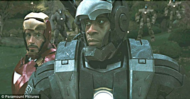Don Cheadle and Robert Downey Jnr in Iron Man 2