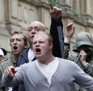 Demonstration by the English Defence League in Birmingham