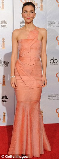 Maggie Gyllenhaal poses in the press room at the 67th Annual Golden Globe Awards