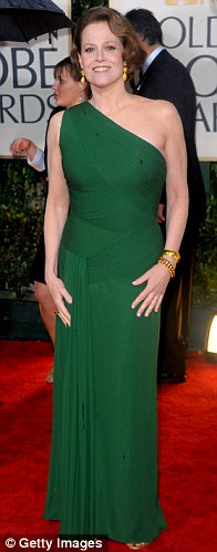 Sigourney Weaver arrives at the 67th Annual Golden Globe Awards