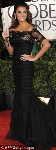 Penelope Cruz Golden Globes