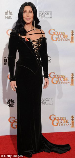 Cher poses in the press room at the 67th Annual Golden Globe Awards
