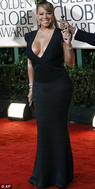 Mariah Carey arrives at the 67th Annual Golden Globe Awards