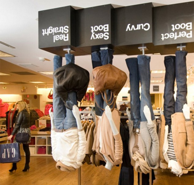 Daily Mail article: Gap stores turn upside down