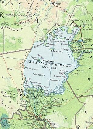 Peta Laut Aral 1967