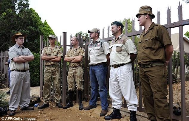 AWB members stand guard