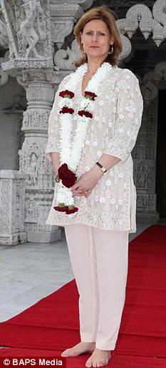 No mean feet: Sarah Brown at the Neasden Hindu Temple