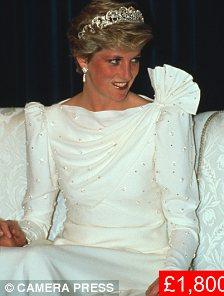 An original sketch of this silk 'Gulf' dress worn in Bahrain in 1986