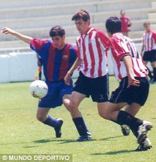 Cesc Fabregas Muda Bermain untuk Tim Muda FC Barcelona melawan Athletic Bilbao (tahun 2003)