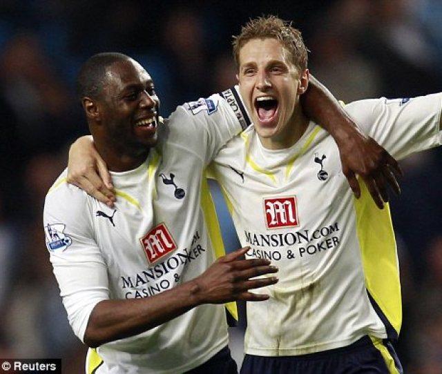 Tottenham Defenders Ledley King Left And Michael Dawson