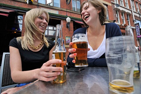 Many women enjoy a drink after work, but some don't know when to stop (picture posed by models)