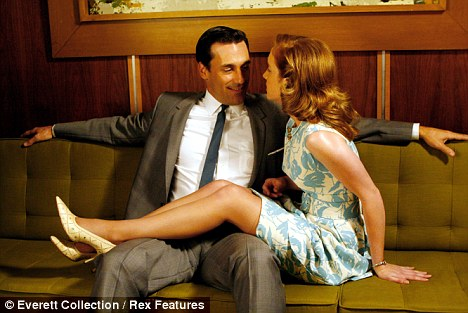 Philanderer: Donald Draper with his mistress in the hit TV series Mad Men. But what makes men cheat, and why do their wives forgive them?