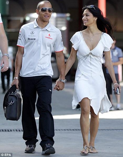 Nicole Scherzinger Steps Out With Lewis Hamilton In White