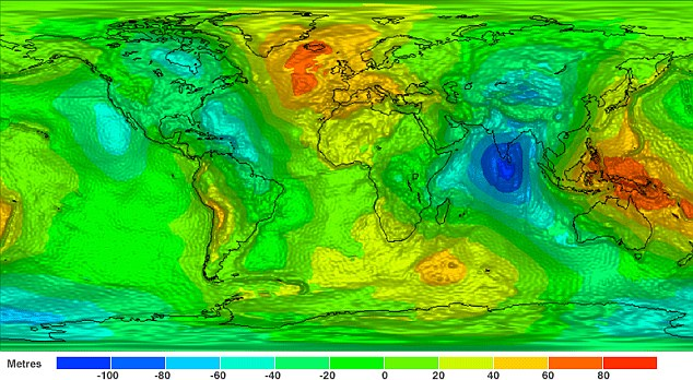 Indian gravity map