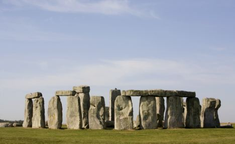 Stonehenge on Salisbury Plain, Wiltshire.