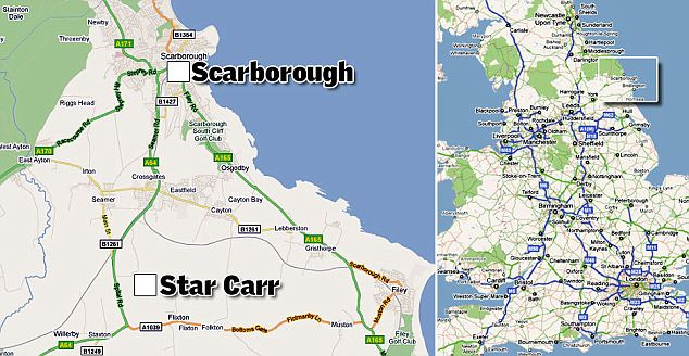 The ancient Star Carr site is located not far from the Yorkshire town of Scarborough