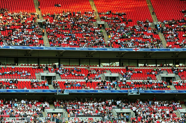 Image result for england wembley empty seats