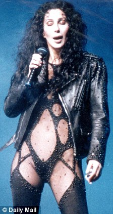 No Romance: Gaga's videos included bondage and grotesque sexual violence, but Cher, pictured here in 1992, and Madonna were the mothers of pop-porn