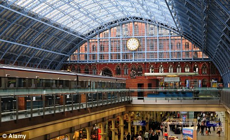 St Pancras International Station where border officials swooped