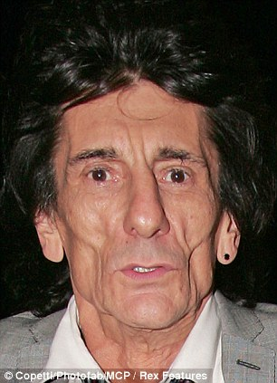 Rolling Stone Ronnie Wood Looks Even More Haggard Than