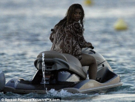 Beyonce Jet Skiing in St Tropez
