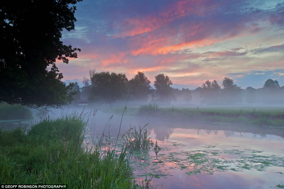And relax..: No buzzing creatures in Matt Fiddler's peaceful study  of a River Stour sunset