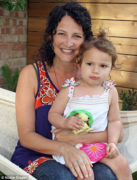 Adoption row: Francesca Polini and daughter Gaia, from Mexico