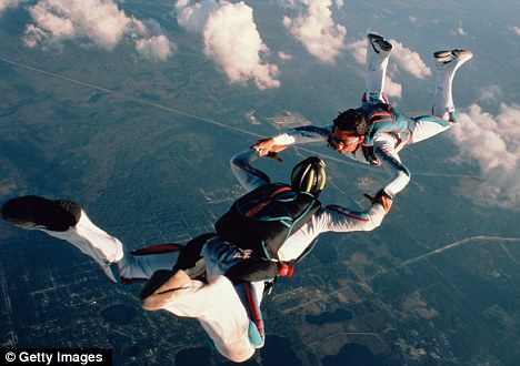 Clottemans and Van Doren shared a passion for skydiving (file picture)