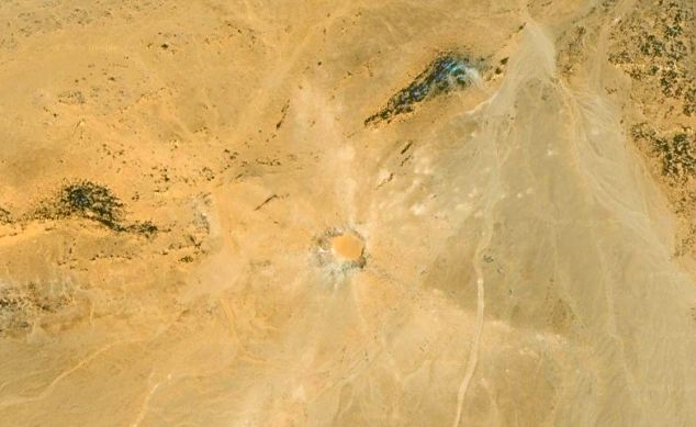 The Kamil crater which is 16 metres deep and 45 metres wide, is deep within the Egyptian desert, and was unknown until it was seen on Google Earth