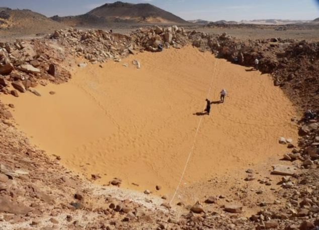 The crater, in southern Egypt, is one of the best preserved sites ever found