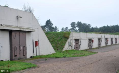 Contact?: Disused missile silos at the former RAF Bentwaters base near Rendlesham Forest, Suffolk. Aliens fired beams of light at the base 30 years ago, it has been claimed