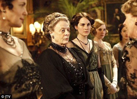 Star turn: Maggie Smith (pictured) plays Violet, Dowager Countess of Grantham