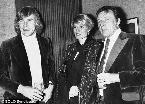 James Hunt and his wife Susie meeting actor Richard Burton