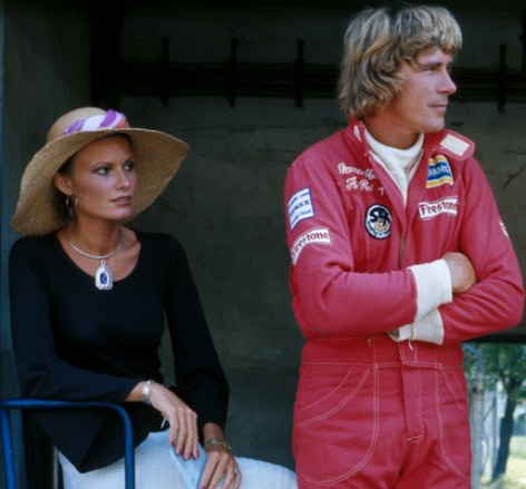 James Hunt with wife Suzy