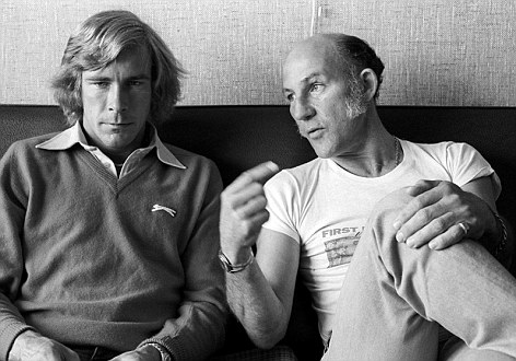 James Hunt and Stirling Moss