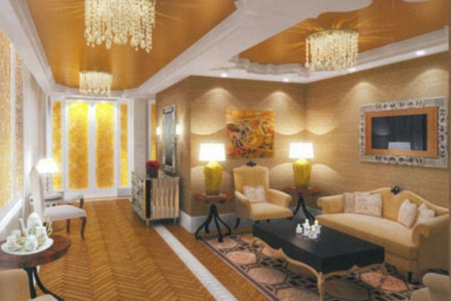 Fine rugs, chandeliers and mirrors feature heavily in the numerous sitting areas lthroughout the building